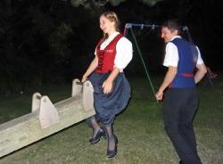 MV Harmonie Tennenbronn beim Dorfbesen in Locherhof_11