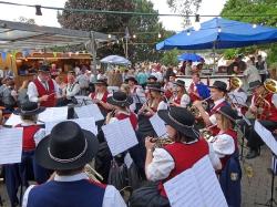 MV Harmonie Tennenbronn beim Dorfbesen in Locherhof_4